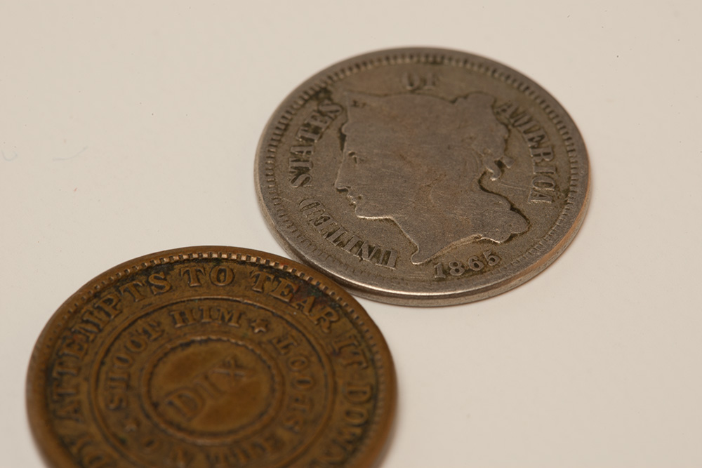 Union coins and tokens; Confederate currency