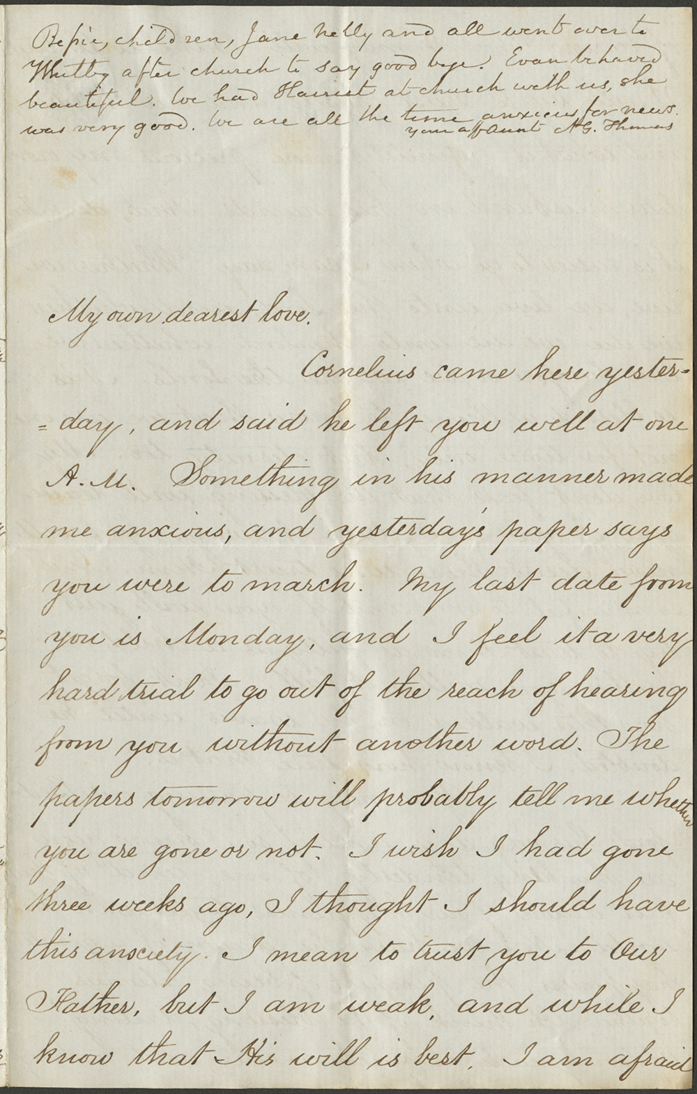 Elizabeth Kane to Thomas L. Kane. 21 June, 1861 (Vault MSS 792, Box 21, Folder 1, Item 29)