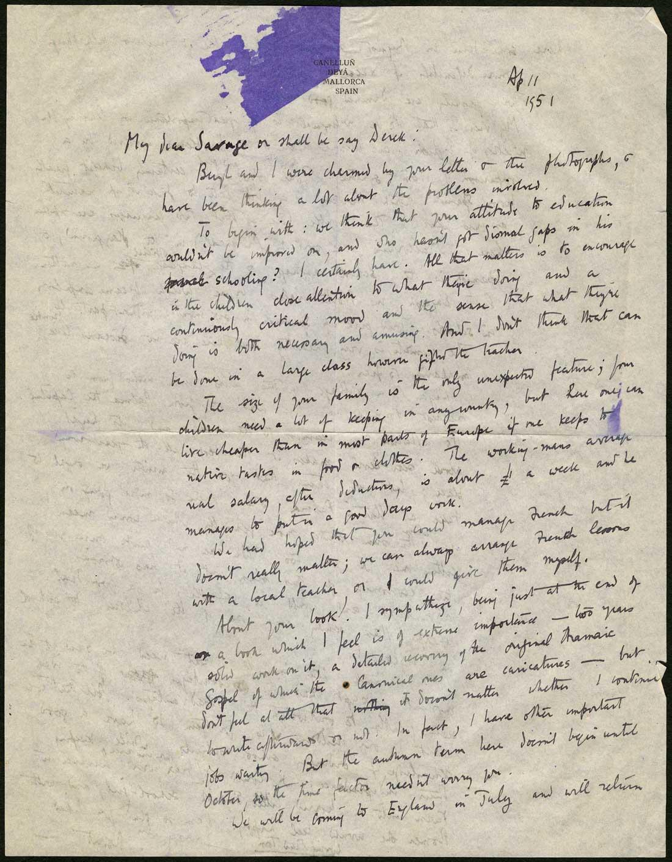 Robert Graves letters