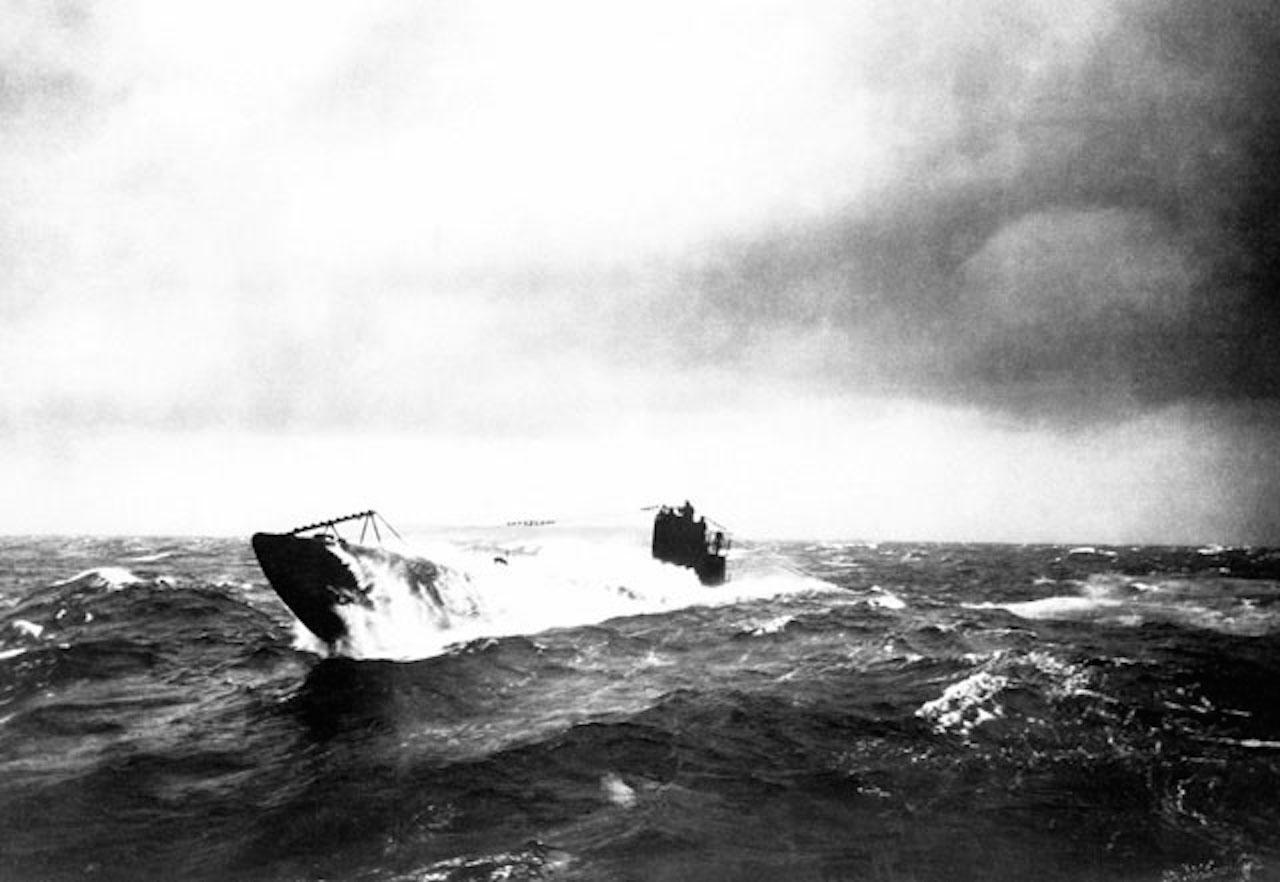 World War I submarine surfacing