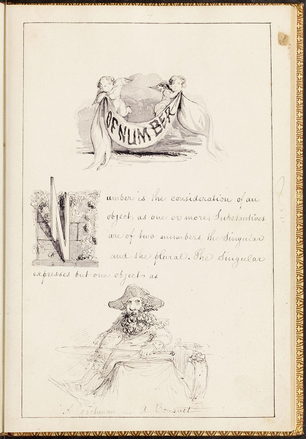 Alfred Crowquill. Original manuscript of The Pictorial Grammar. #1