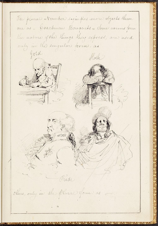 Alfred Crowquill. Original manuscript of The Pictorial Grammar. #2