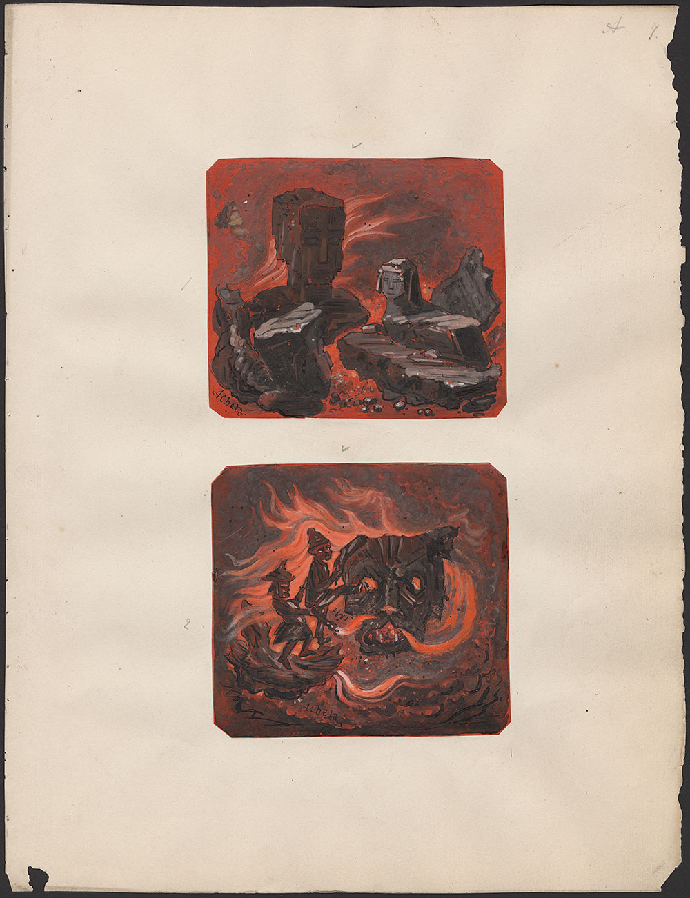 L. M. Budgen. Illustrations from Live Coals: or, Faces From the Fire.