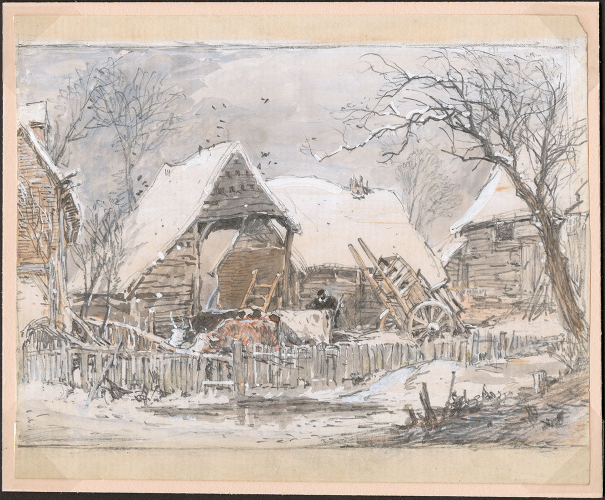 Myles Birket Foster. <i>Scenic landscape illustration.</i>