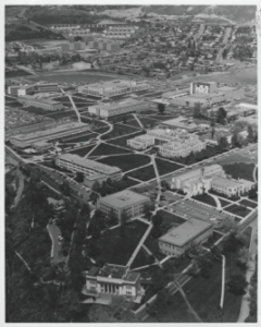 View of Brigham Young Academy from the Air