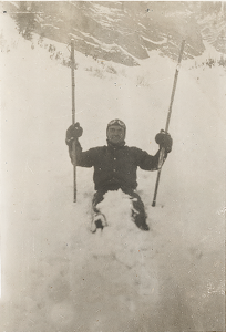 Ray Stewart on Mt. Timpanogos Glacier