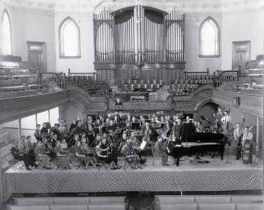 Orchestra Rehersal in the Tabernacle