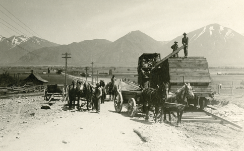 Workers Surveying Railroad