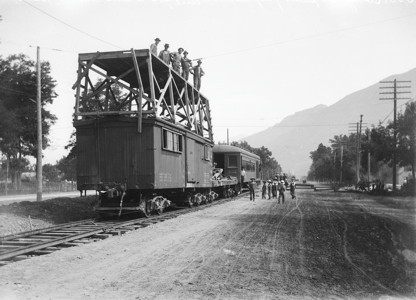 Workers Building Railroad