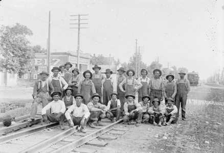 Workers Laying Railroad